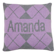 Personalized Argyle Pillow