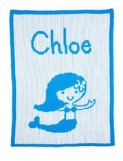 Personalized Stroller Blanket, Mermaid