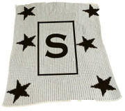 Personalized Stroller Blanket, Stars and Initial