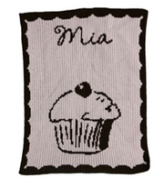 Personalized Stroller Blanket, Cupcake