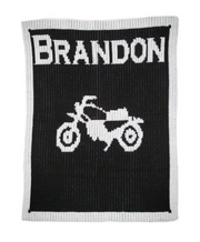 Personalized Stroller Blanket, Vintage Motorcycle
