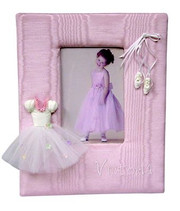 Personalized Picture Frame: Tutu and Ballet Slippers