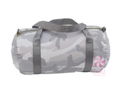 Duffle Bag, Personalized Grey Camo Seersucker