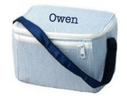 Lunch Box, Personalized Navy Seersucker