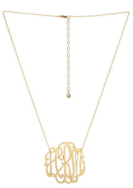 326e48b28732 ... Womens Jewelry; Script Monogrammed Cut Out 3 Letter Necklace. Image 1