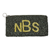 Personalized Beaded Make-Up Case/Pencil Case