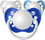 Personalized Pacifiers, 3 Pack Classic Boys