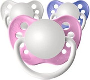 Personalized Pacifiers, 3 Pack Classic GIrls