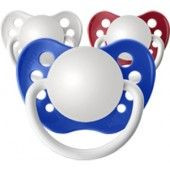 Personalized Pacifiers, 3 Pack Patriotic Boys