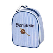 Gumdrop Lunch Bag, Personalized Navy Seersucker