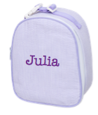 Gumdrop Lunch Bag, Personalized Lavender Seersucker
