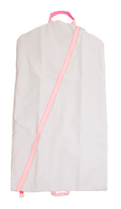 Personalized Garment Bag, Pink Seersucker
