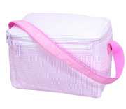 Lunch Box, Personalized Pink Seersucker