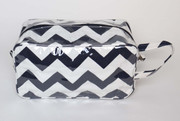 Personalized Toiletry Bag, Chevron