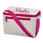 Lunch Box, Personalized Rainbow Seersucker