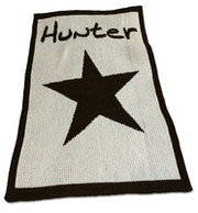 Personalized Stroller Blanket, Star