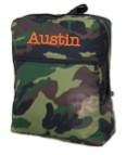 Large Personalized Backpack, Camo