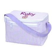 Lunch Box, Personalized Lavender Seersucker