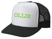 Personalized Kids Trucker Hat, Black and White