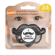 Newborn Pacifier 0-6 Months, I Mustache You a Question