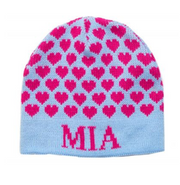 Personalized Hat, Many Hearts