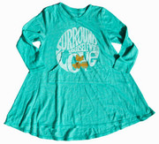 Rowdy Sprout Turquoise Swing Dress, Surround Yourself WIth Love