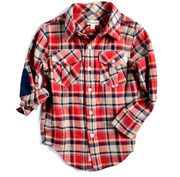 Appaman Flannel Button Down, Red