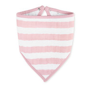 Aden and Anais, Bandana Bib Heartbreaker  Pink and White Stripe