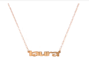 Mini Nameplate Necklace, Anja