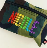 Personalized Small Zip Bag, Camo