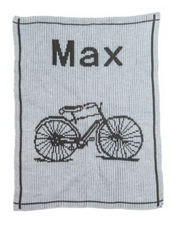 Personalized Stroller Blanket, Vintage Bike