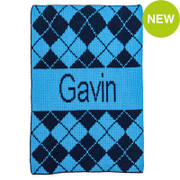 Personalized Stroller Blanket, Argyle