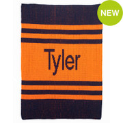 Personalized Stroller Blanket, Pin Stripes
