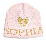 Personalized Hat, Metallic Single Heart