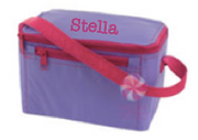 Lunch Box, Personalized Lavender with Hot Pink Accents