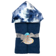 Deluxe Hooded Towel, Tie Dye Blue