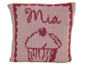 Personalized Cupcake Pillow