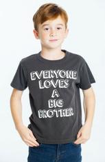 Chaser Boys Vintage Jersey Short Sleeve Tee, Everybody Loves a Big Brother