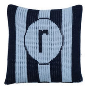 Personalized Pillow, Vertical Stripes