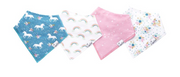 Bandana Whimsy Bib Set of 4, Personalized