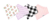 Bandana Rosie Bib Set of 4, Personalized