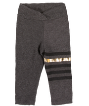 Joah Love, Stripe Faux Print Cashmere Legging in Grey