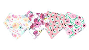 Bandana Bloom Bib Set of 4, Personalized