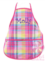 Apron, Personalized Plaid