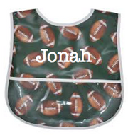 Laminated Food Bib, Football