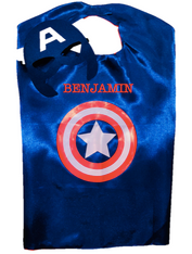 Superhero Cape, Captain America Personalized