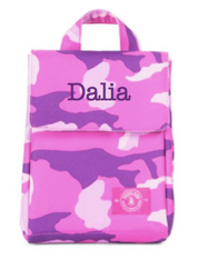 Lunch Bag, Personalized Pink Camo