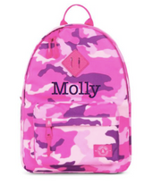Large Backpack, Personalized, Pink Camo