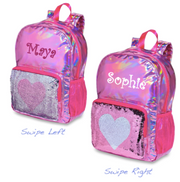 Backpack, Metallic Reversible Sequin Heart
