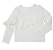 Joah Love, Ruffle front White Long Sleeve
